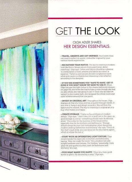 Design essentials in Rooms Magazine