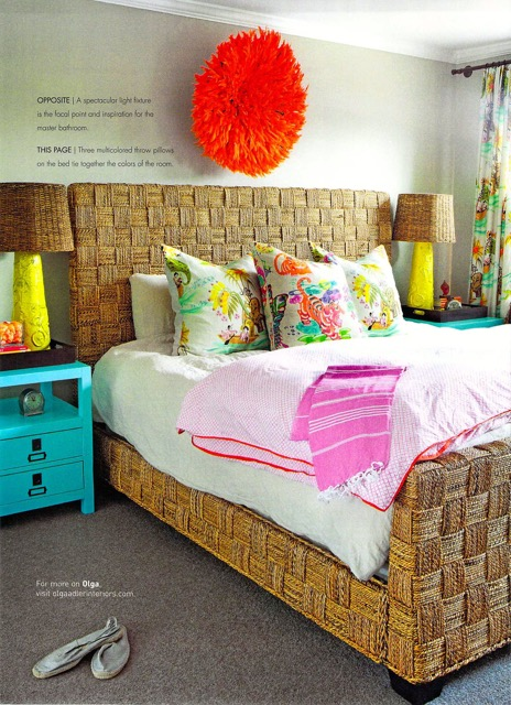 Bedroom design in Rooms Magazine feature from Delray Beach interior designer Olga Adler Interiors