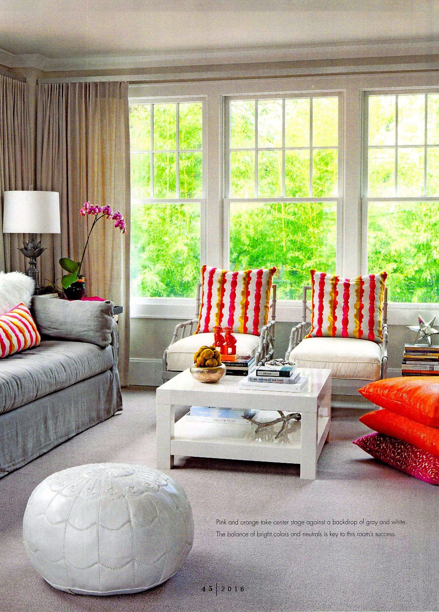Living Room in Rooms Magazine feature from Delray Beach interior designer Olga Adler Interiors