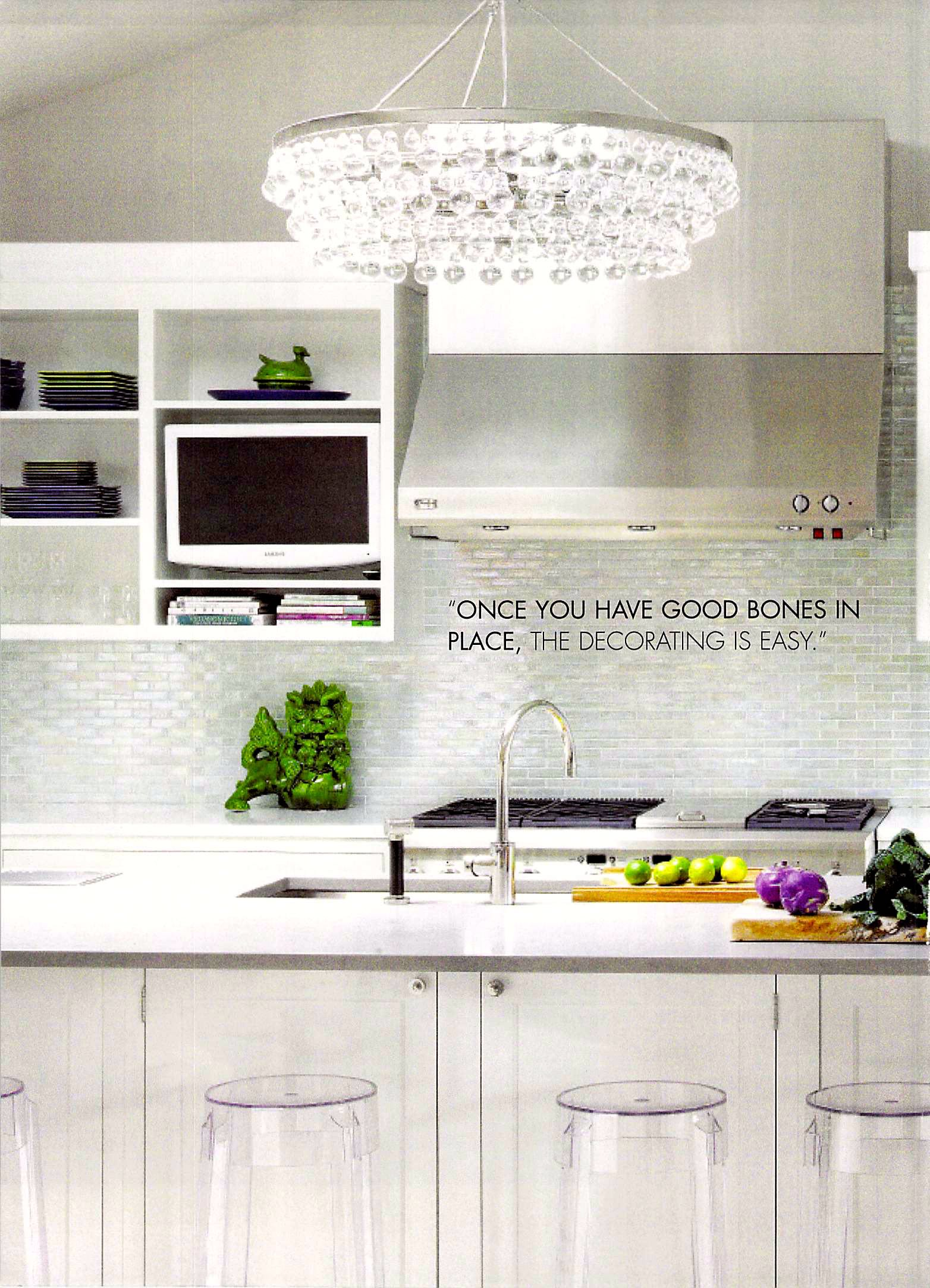 Kitchen Diner details in Rooms Magazine feature from Delray Beach interior designer Olga Adler Interiors