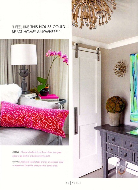Decor Details in Rooms Magazine feature from Delray Beach interior designer Olga Adler Interiors