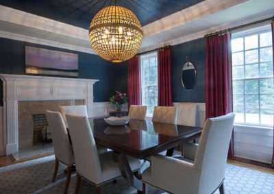 Dining Room Interior - City Classic interior design from Delray Beach interior designer Olga Adler Interiors.
