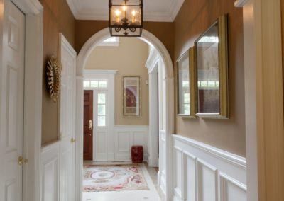 Entrance Hall - City Classic interior design from Delray Beach interior designer Olga Adler Interiors.