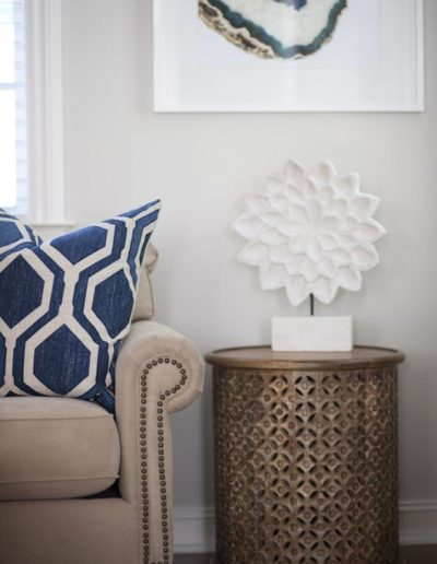 Living Room Detail - Delray Beach Townhouse