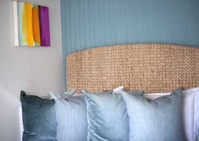 Traditional Beach House Guest Bedroom Detail