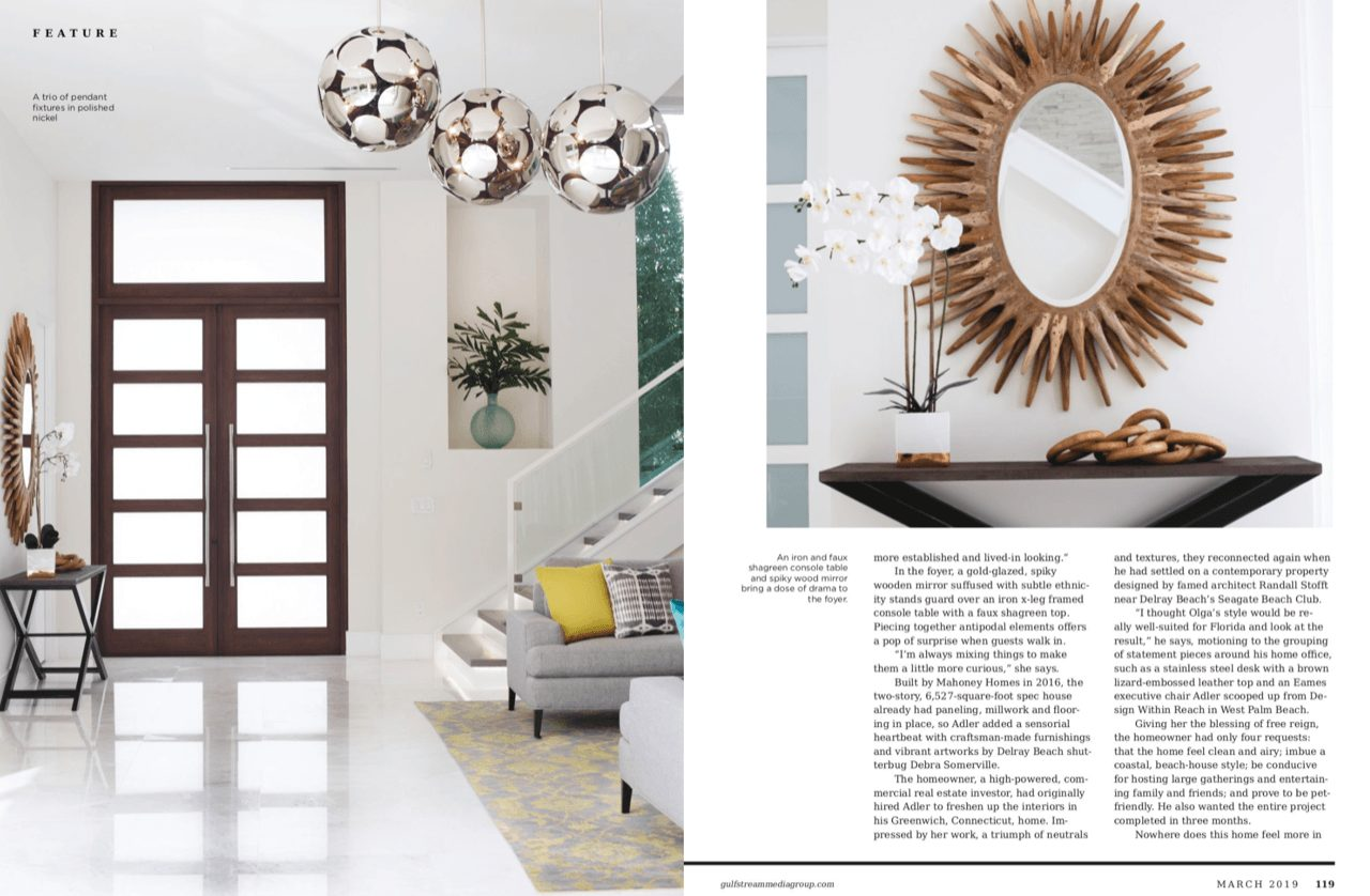 Delray Beach Gold Coast Magazine Fort Lauderdale Olga Adler Interiors 3