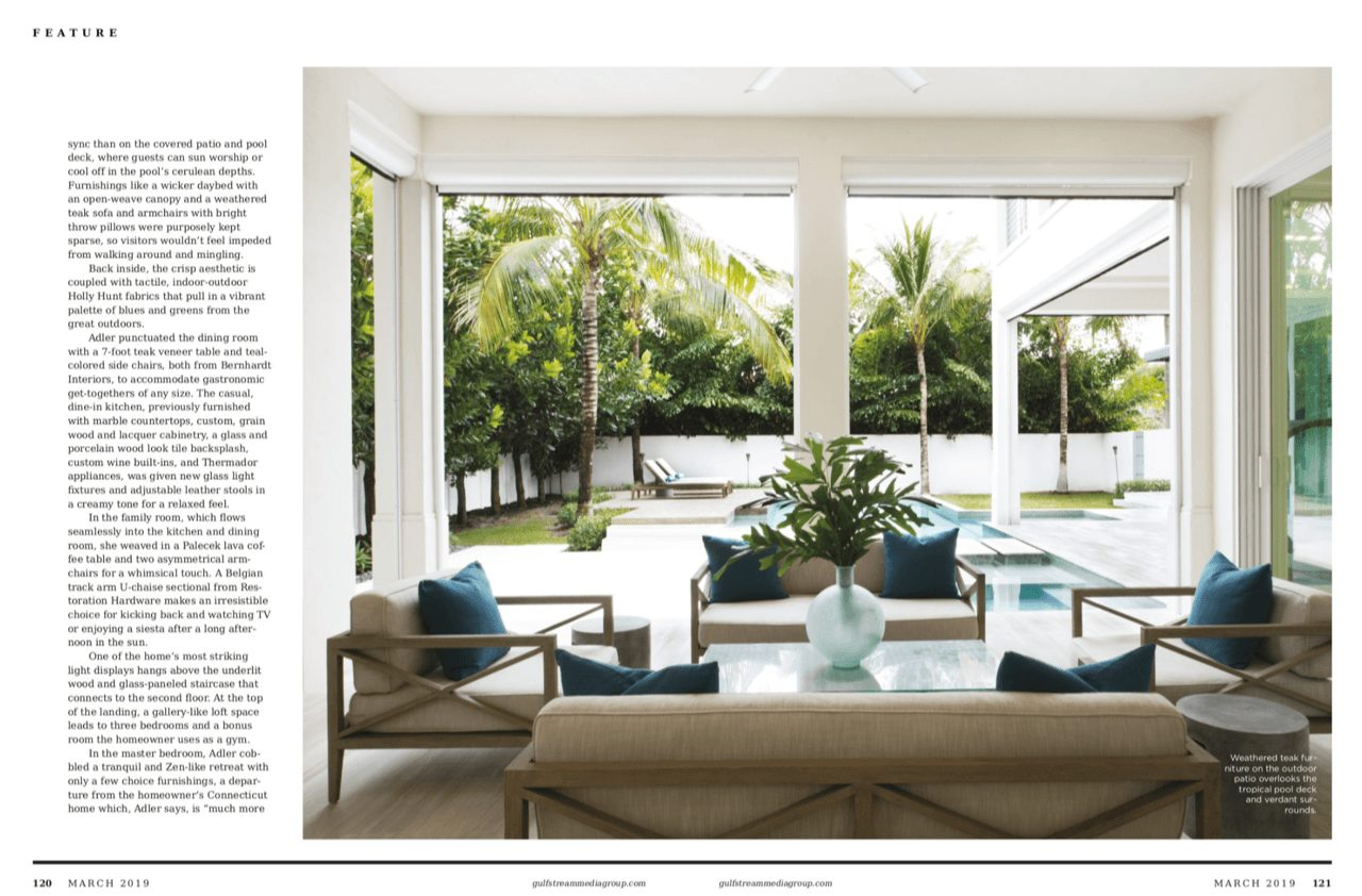 Delray Beach Gold Coast Magazine Fort Lauderdale Olga Adler Interiors