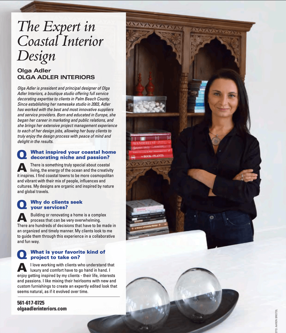 Interior Design Boca Magazine Page 3