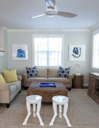Living Room Interior - Delray Beach Townhouse