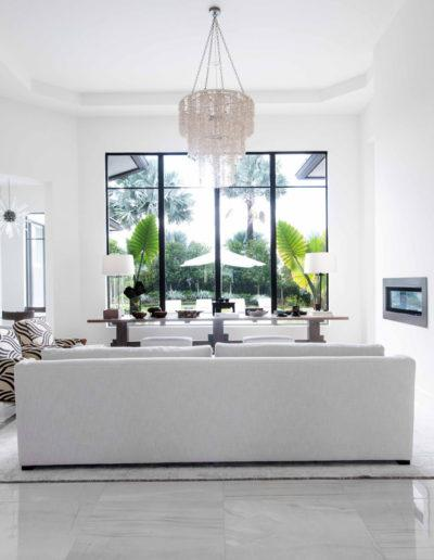 Living Room View - Interior Design Delray Beach
